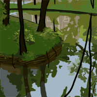 Its never what youd expect.Its Spring in a pretty little city in Bavaria. In a pretty little park in the pretty little city there is a pond. The pond is dappled with clear morning light and the shade of overhanging trees